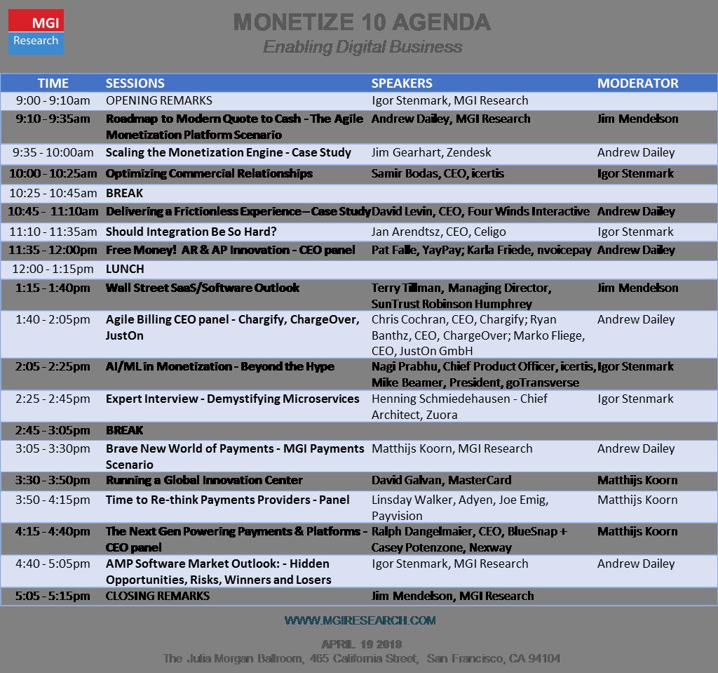 M10 Agenda