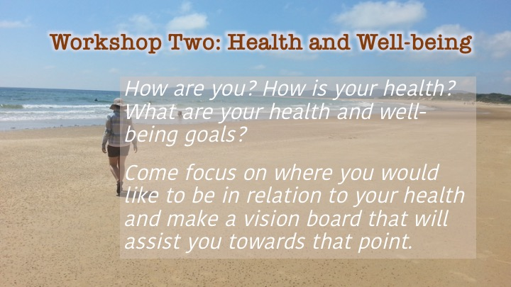 Workshop 2: Health and Well-being description