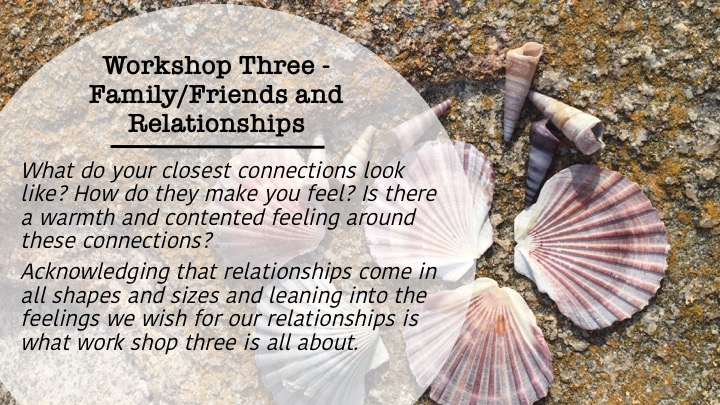 Workshop 3: Family/Friends and Relationships shells