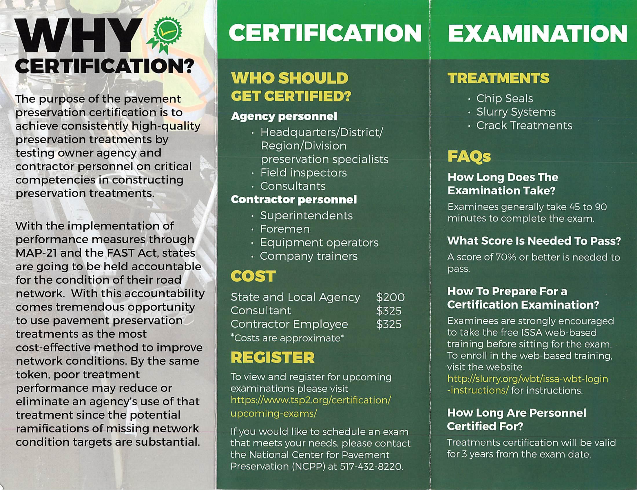 Certification Exam Flyer