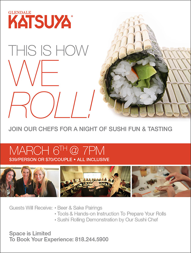 Sushi Rolling Class Flyer