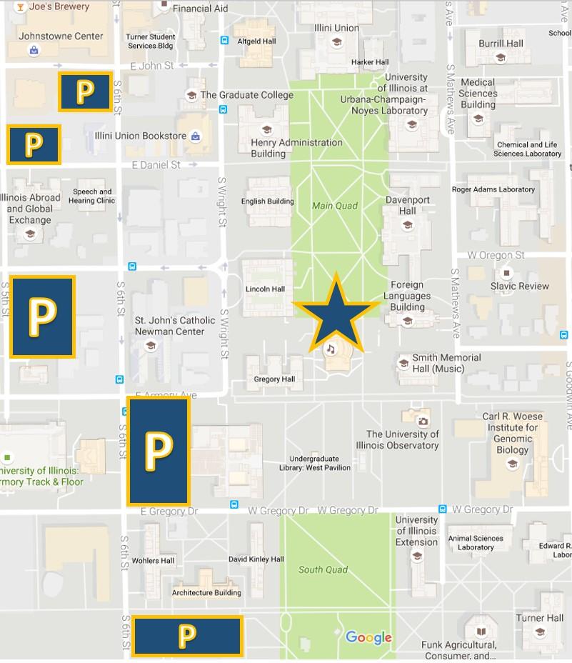 Memorial 5K Parking Map