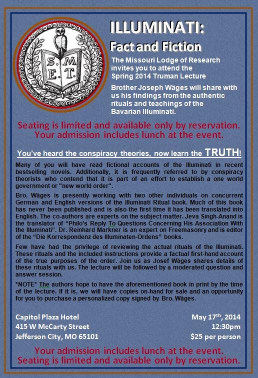 Illuminati Fact and Fiction Missouri Lodge of Research
