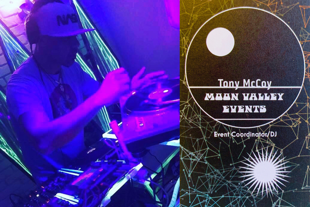Tony McCoy Spinning at the Funky Monkey Variety Show hosted by Spice Monkey Restaurant