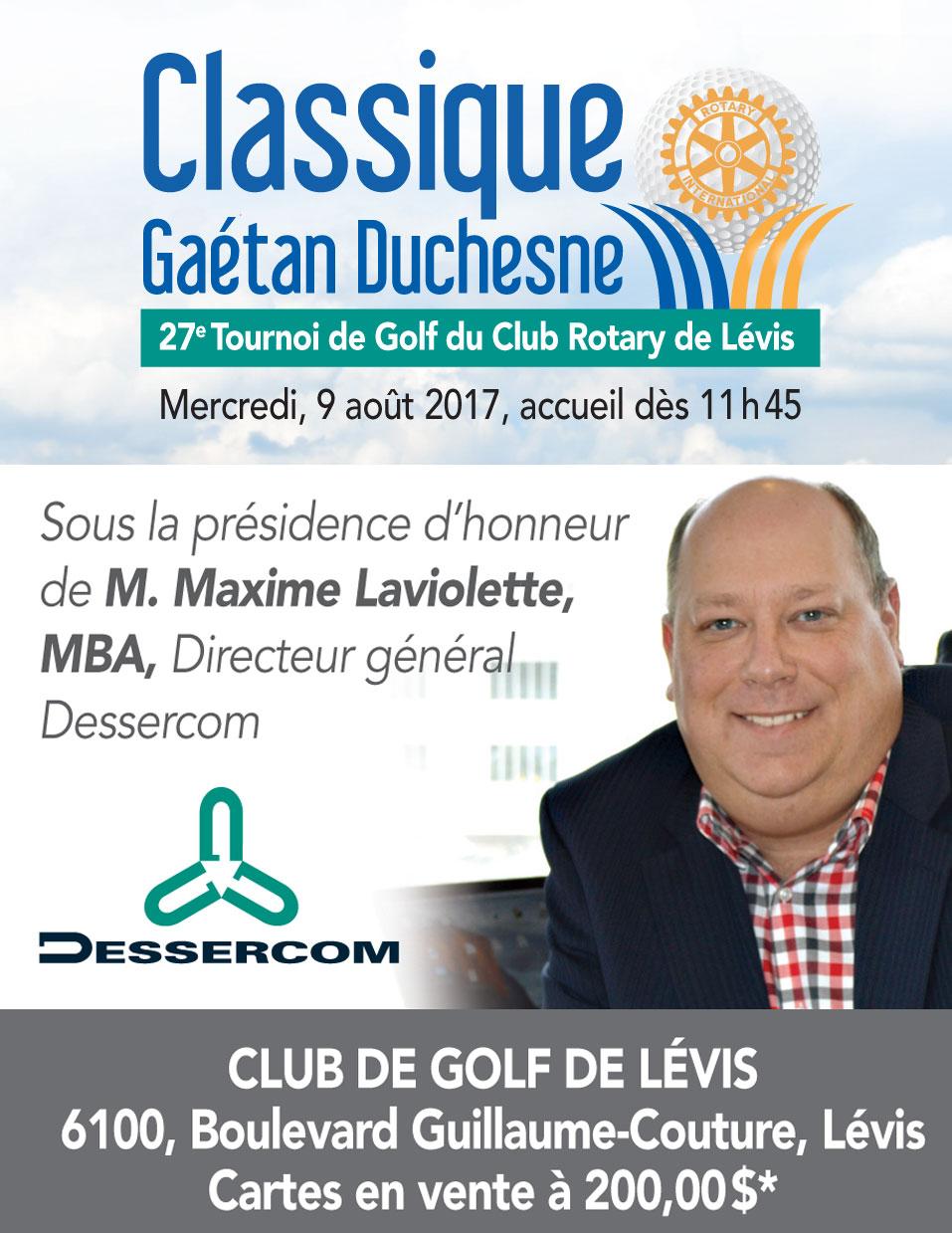 Tournoi de Golf Rotary Lévis 2016