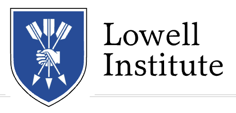 Sponsored by the Lowell Institute