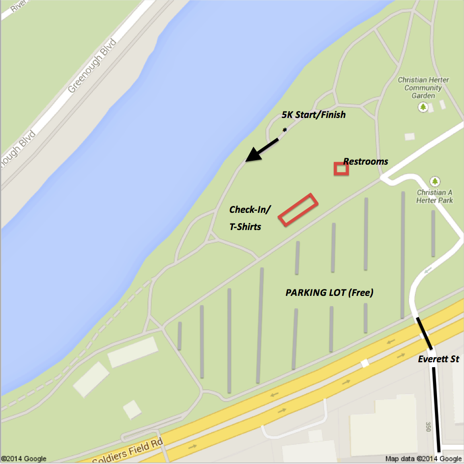 Check-In/Registration Location at 1255 Soldiers Field Road
