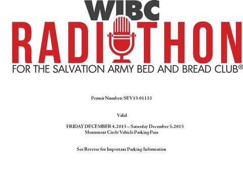 Radiothon Parking Permit