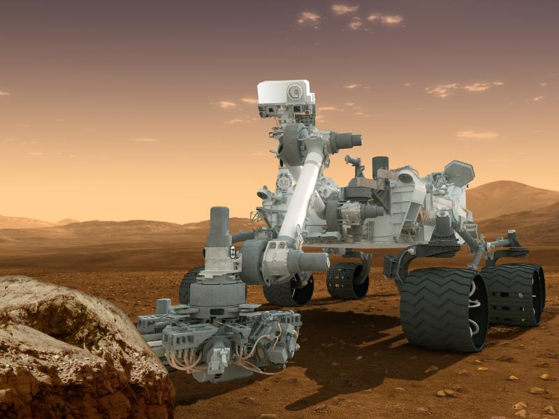 MSL Image courtesy NASA/JPL