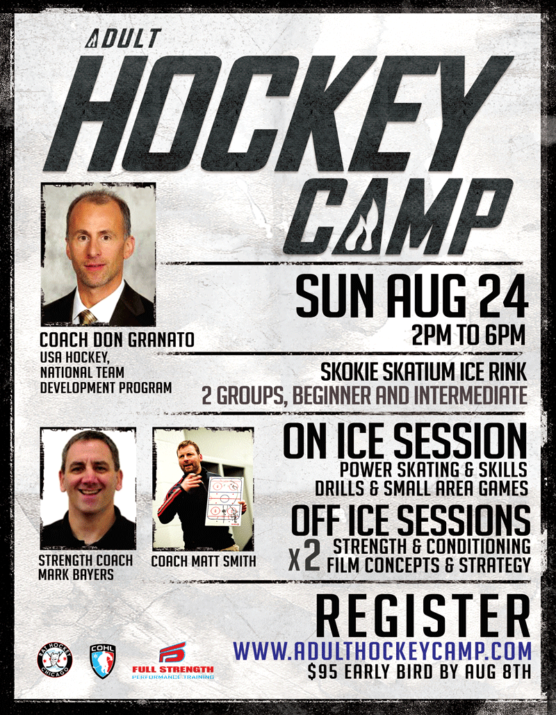 Adult Hockey Camp II Flyer