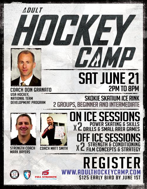 Adult Hockey Camp Flyer