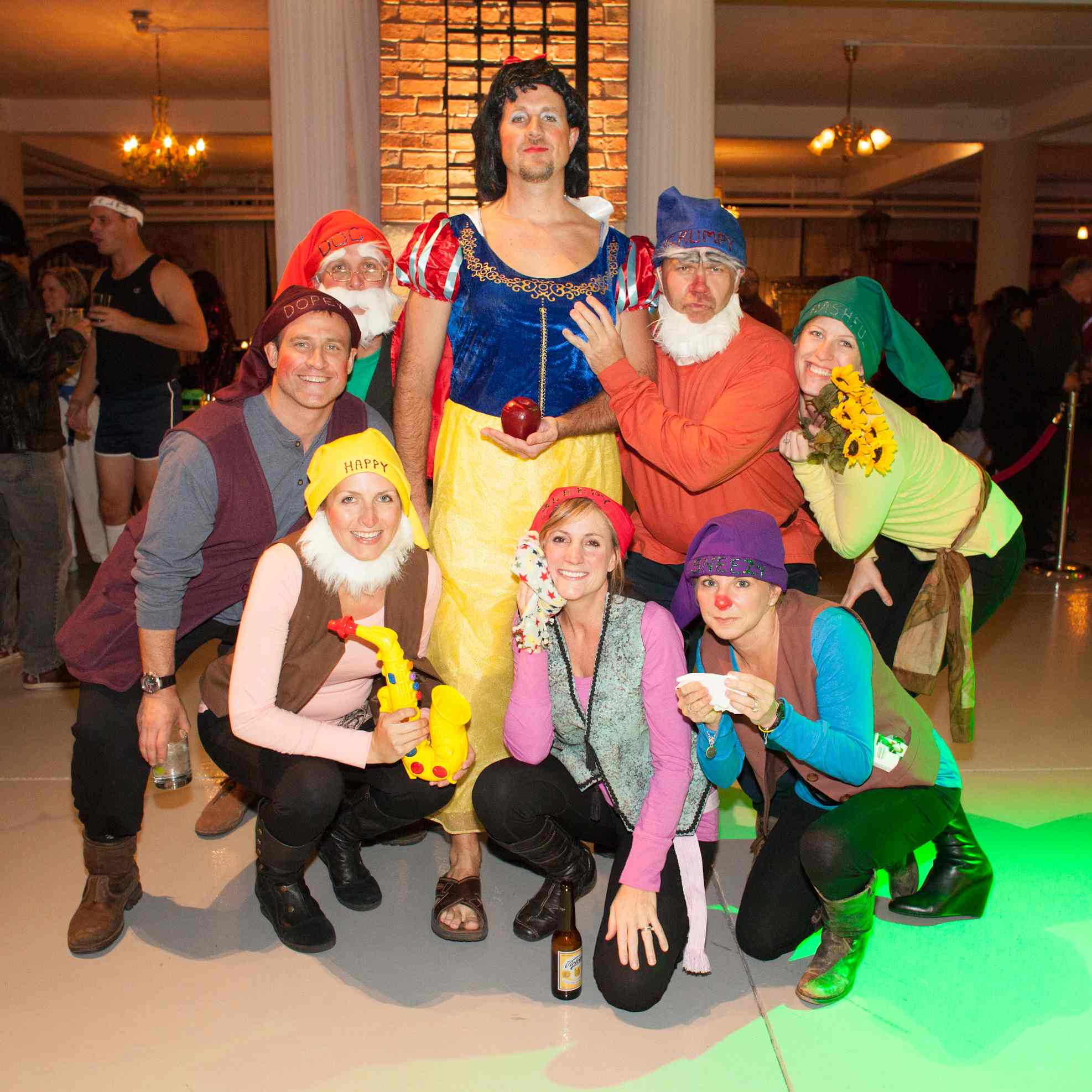 Snow White and her Dwarves.