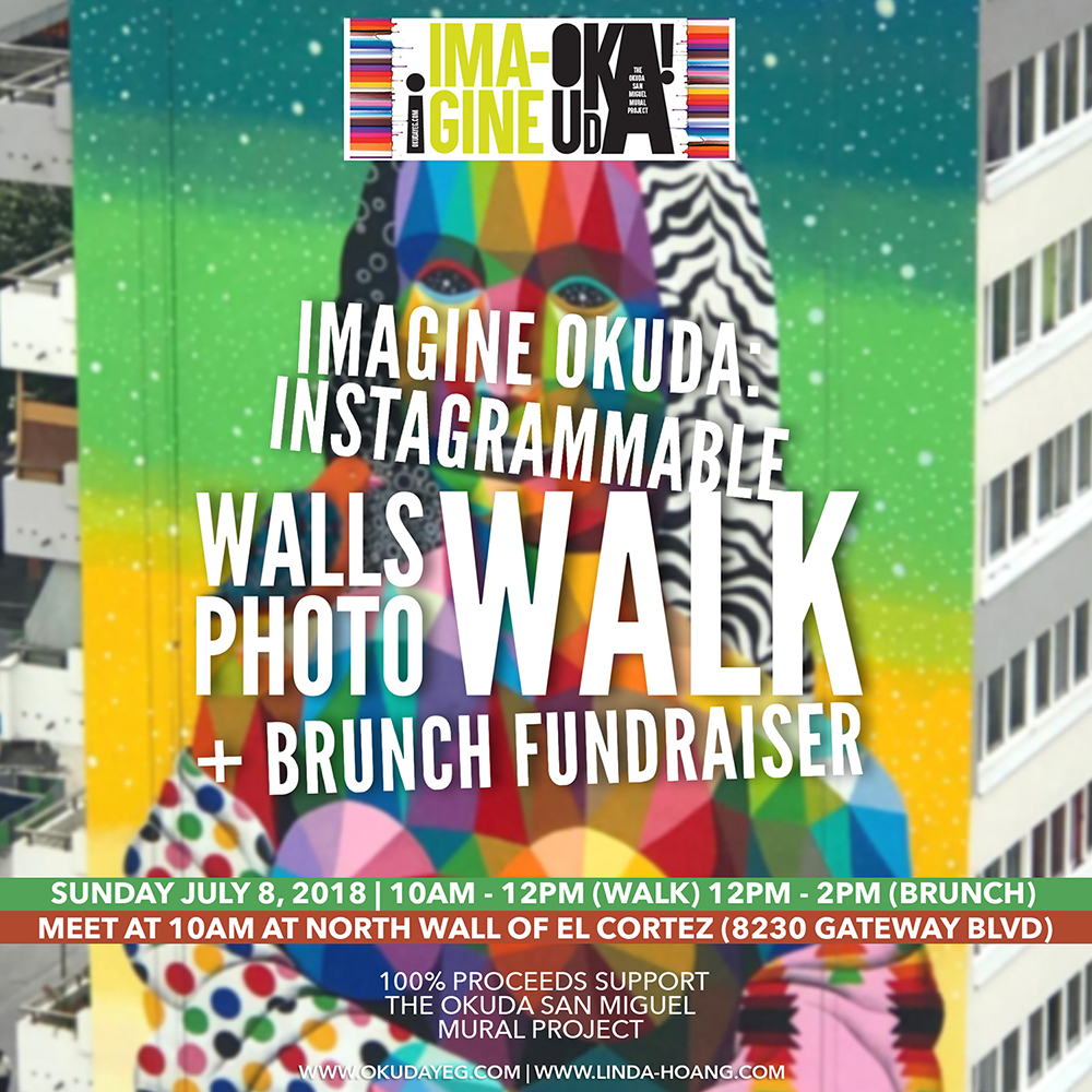Okuda San Miguel Project - Instagrammable Wall Walk and Brunch