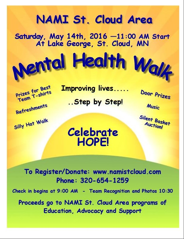 Mental Health Walk 2016 Presented By NAMI St Cloud Area