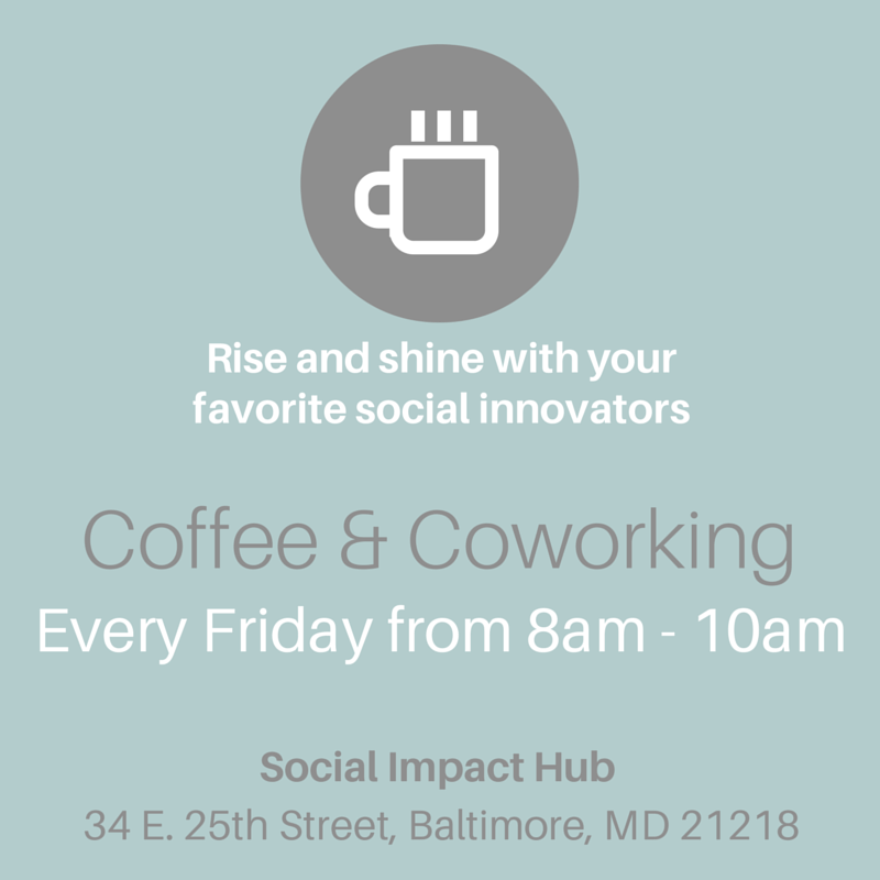 Coffee & Coworking, Every Friday 8am-10am