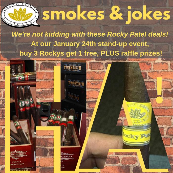 Rocky Patel Comedy Night Event Deals