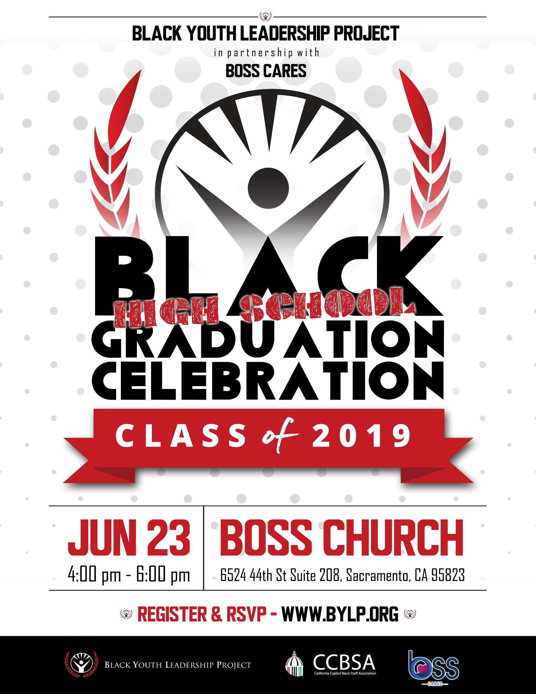 black high school graduation celebration