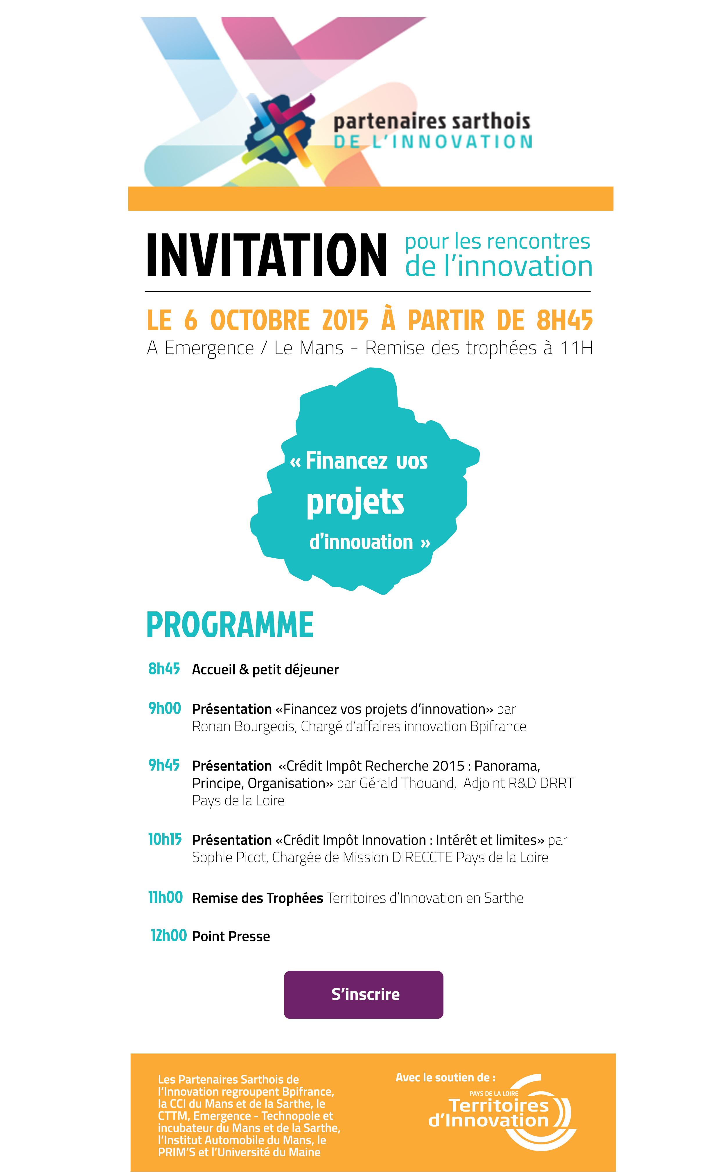 Invitation et programme JTI 2015