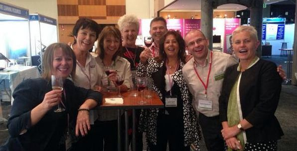 Kiwis networking at AITD conference