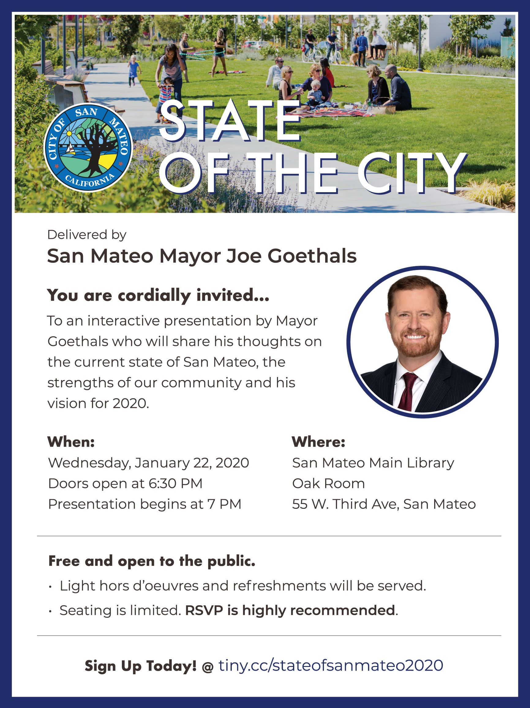 State of the City - San Mateo 2020 Flyer