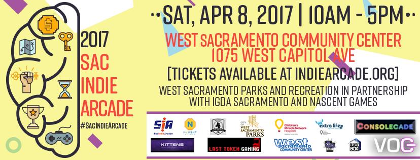 2017 Sacramento Indie Arcade Flyer