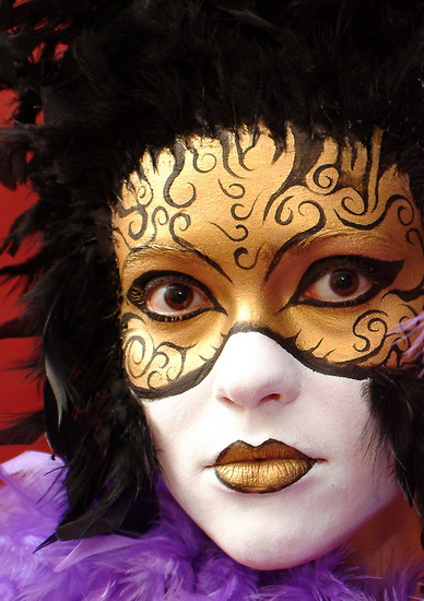 Casino face painting