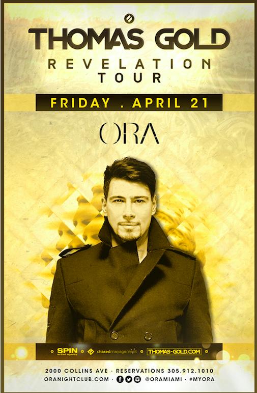 Thomas Gold at ora nightclub