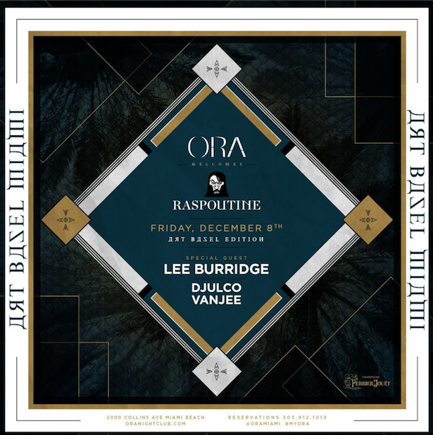 raspoutine w/ lee burridge at ora