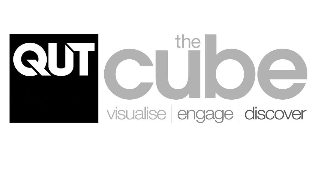 QUT & The Cube logo