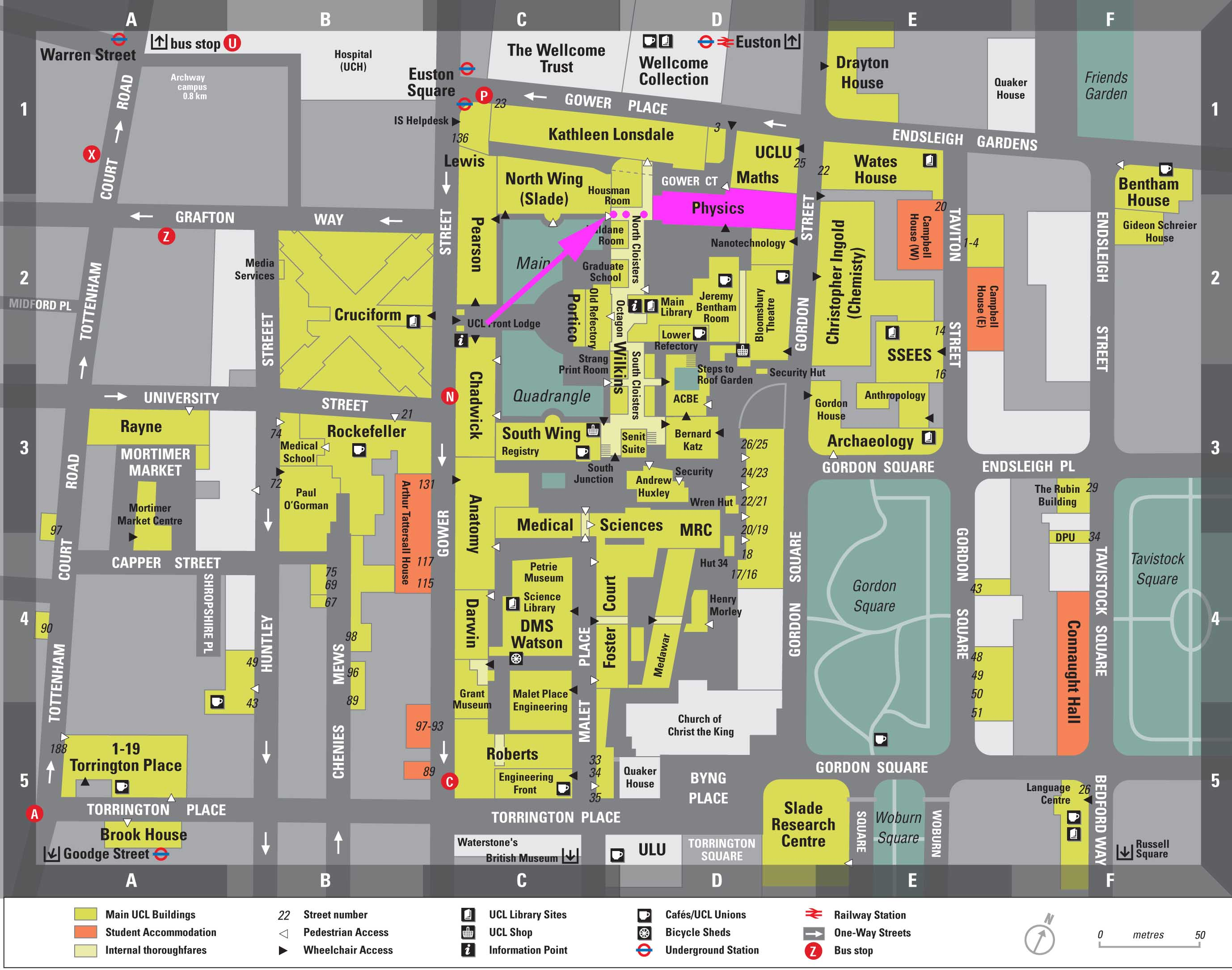 physics department map