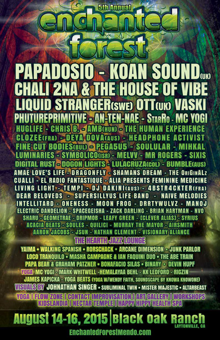 Official Enchanted Forest Lineup 2016
