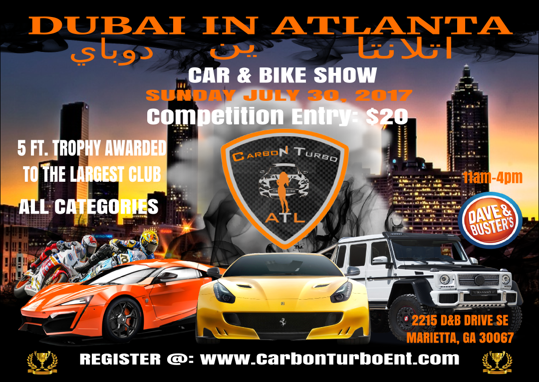 dubai in atlanta car bike show tickets sun jul 30