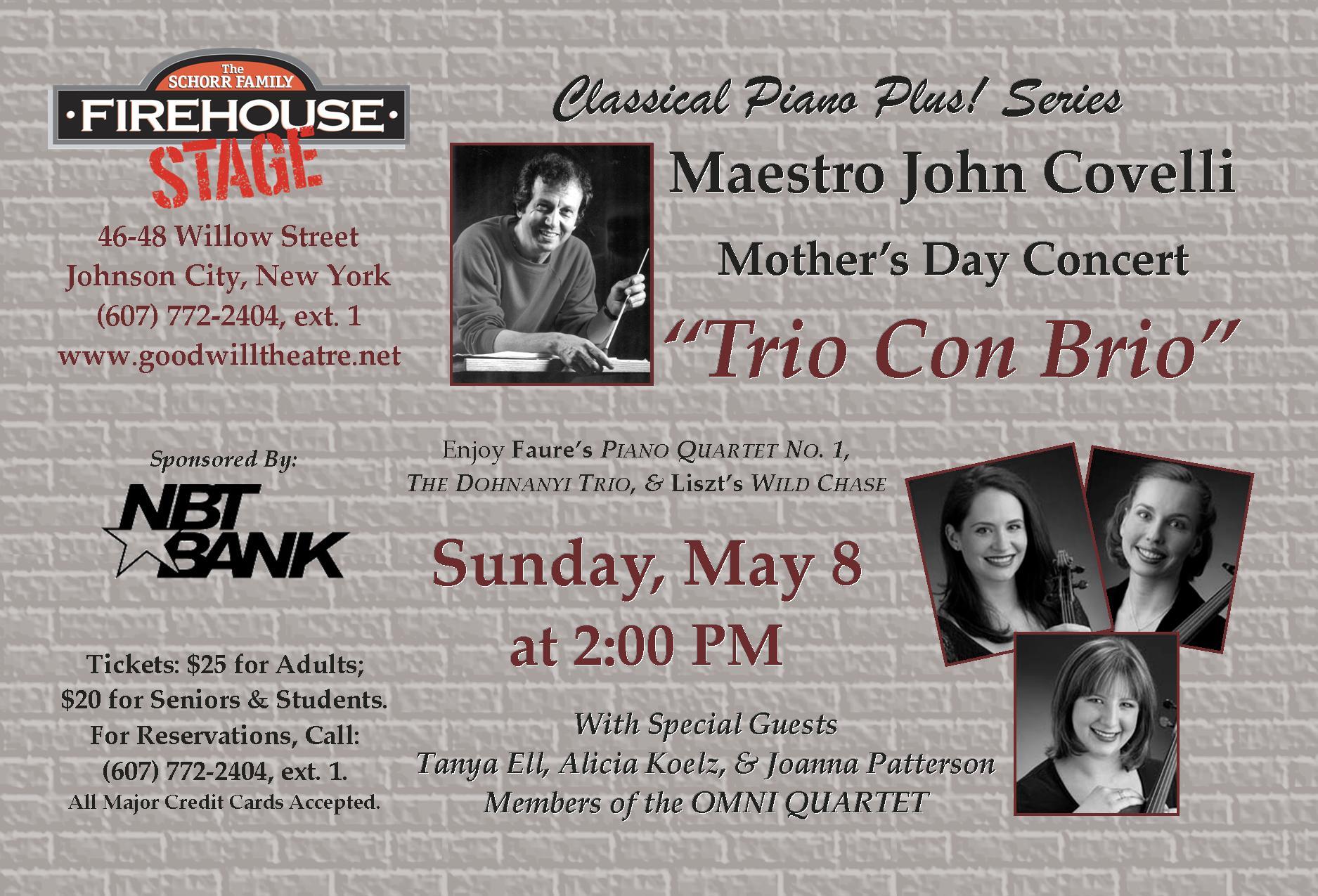Trio Con Brio - Sunday, May 8 at 2:00 PM