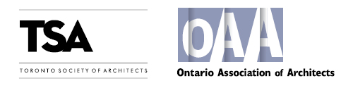 Logo of the Toronto Society of Architects and the Ontario Association of Architects
