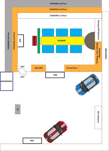 DFW event map