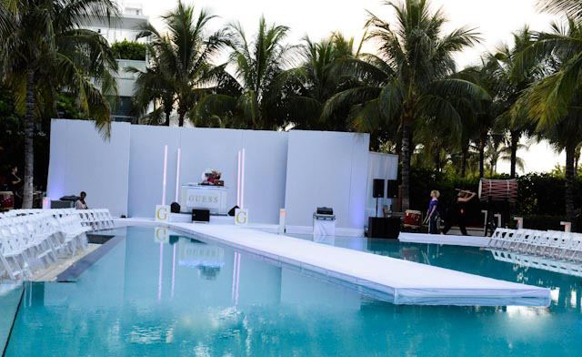 The white party 303 magazine 10 year anniversary event for Pool fashion show
