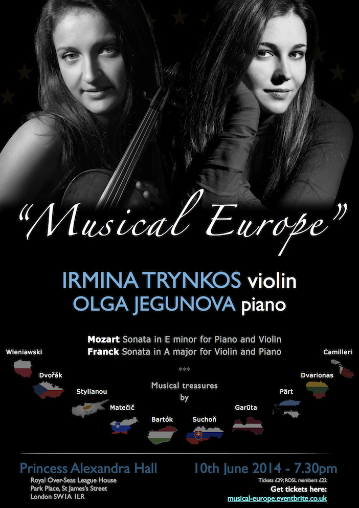 Musical Europe  - concert at the Princess Alexandra Hall