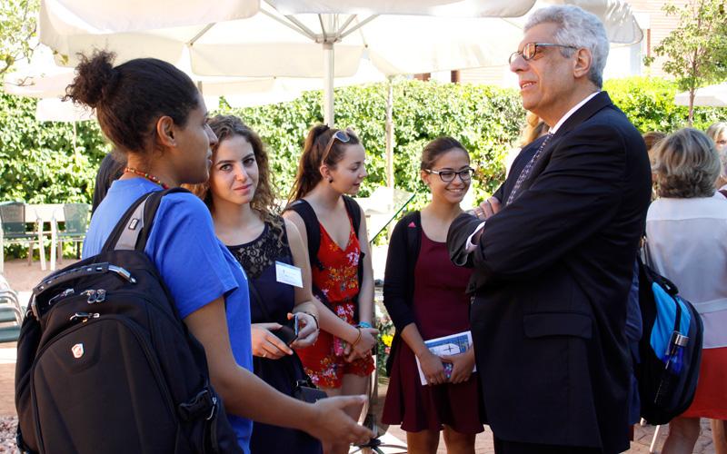Pestello with Students
