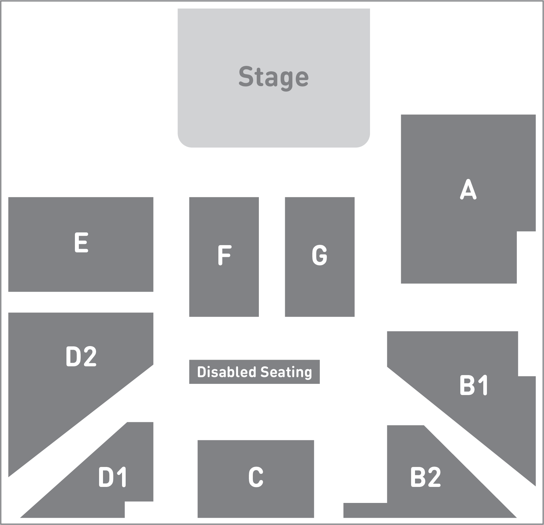 Section plan of auditorium