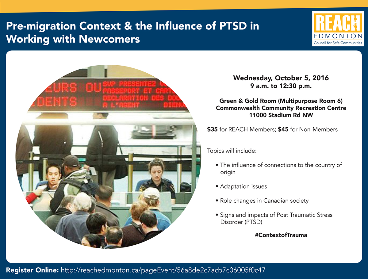 Pre-migration Context & the Influence of PTSD in Working with Newcomers Workshop Poster