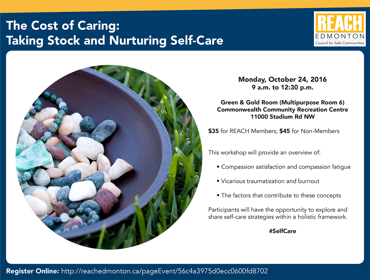 The Cost of Caring: Taking Stock and Nurturing Self-Care workshop poster