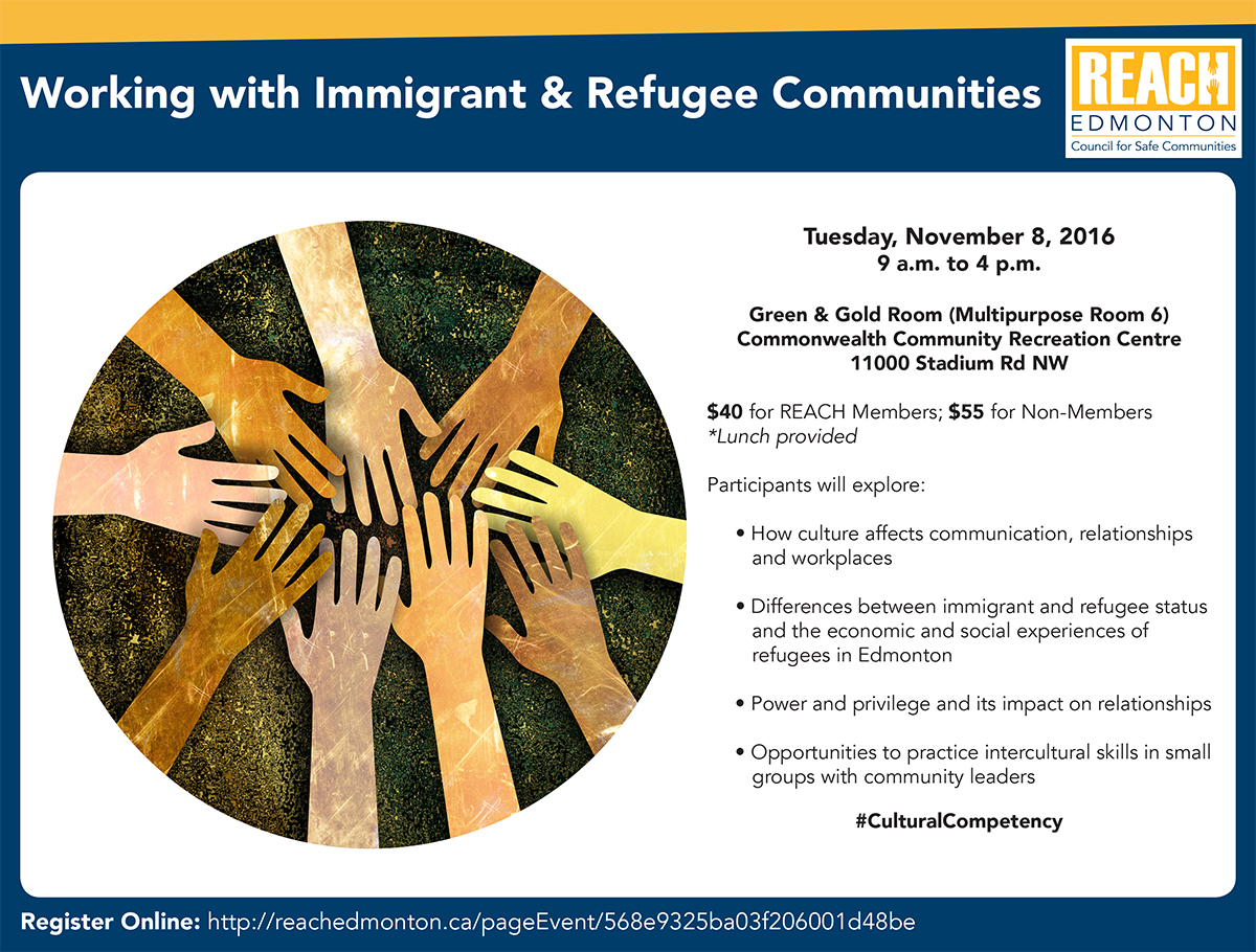 Working with Immigrant & Refugee Communities Poster