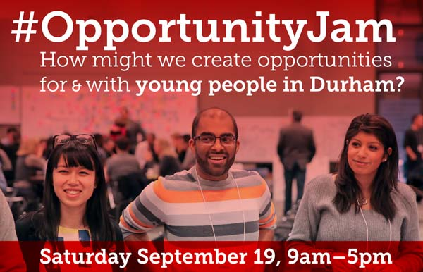#OpportunityJam Durham image with young people