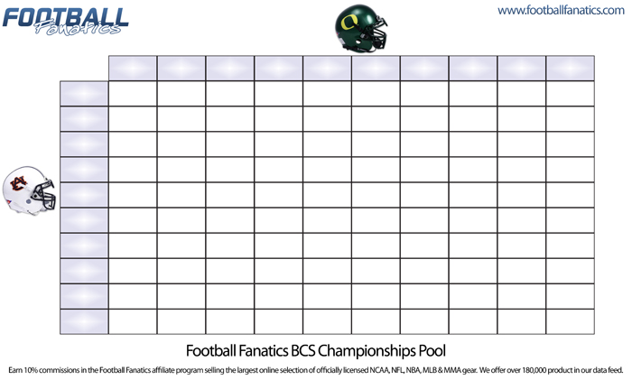 Football Pool With 100 Squares | New Calendar Template Site