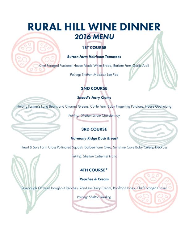 Wine Dinner 2016 Menu