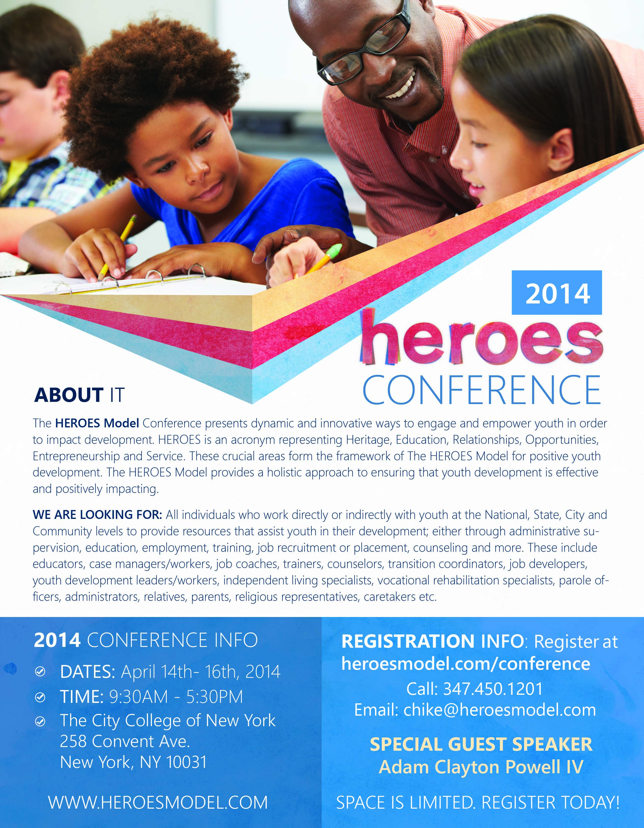 For more on the conference, please visit www.heroesmodel.com/conference