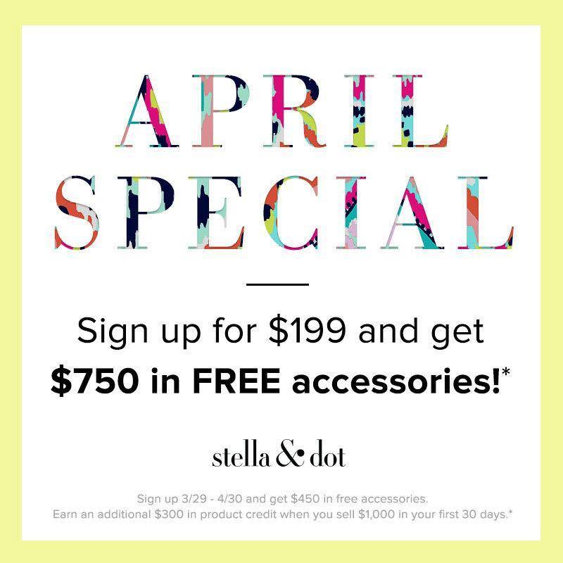 APRIL SIGN UP SPECIAL