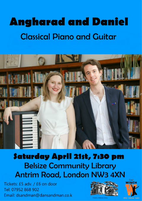 Angharad and Daniel - Belsize Community Library -- Saturday April 21st 2018