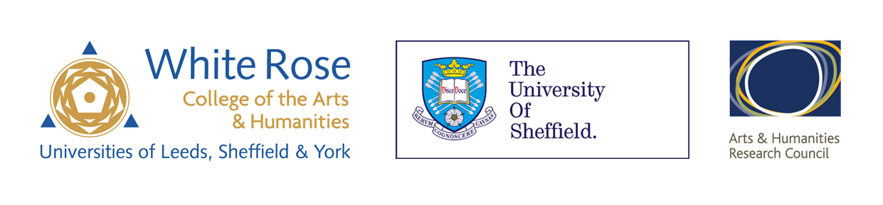 Logos: WRoCAH, University of Sheffield, AHRC