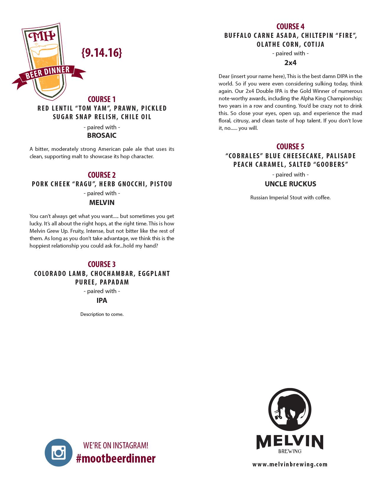 melvin menu